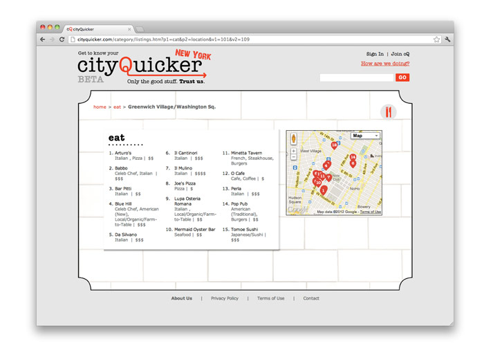 CityQuicker<br>Website