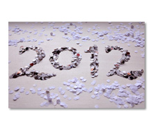 2012 New Year&#8217;s e-Card<br>Hole Punch Confetti