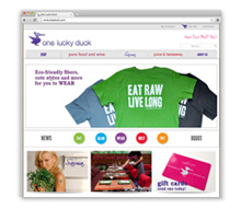 One Lucky Duck <br /> E-Commerce Site