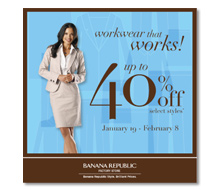 Banana Republic<br>Factory Stores<br>Digital Marketing