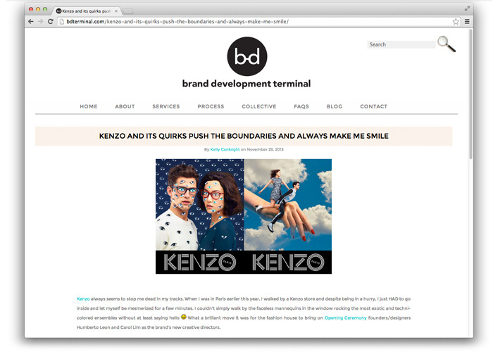 Brand Development Terminal Agency Website