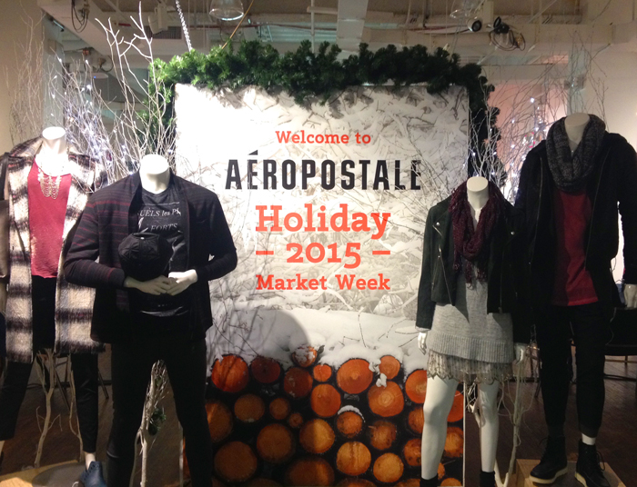Aéropostale International Market Week Environmental Marketing + Props
