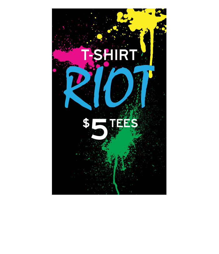 Aéropostale International <br>T-shirt Riot <br>Window + In-Store Promotion