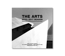 Saint Peter&#8217;s Church <br>Fold-out Arts Brochure <br>2016-2017 Season