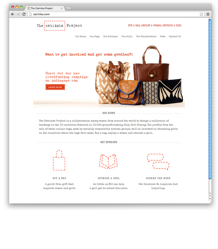 Catrinka Project<br>Sustainable Handbags Website
