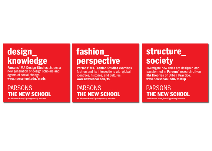 The New School<br>Digital + Print<br>Advertising System
