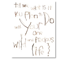 2014 NEW YEAR'S E-CARD<br> Quote by Mary Oliver<br> Wood + Copper Wire