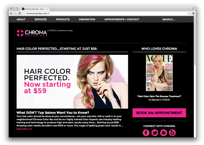 CHROMA Color Bar<br>Branding + Website<br>+ Environmental