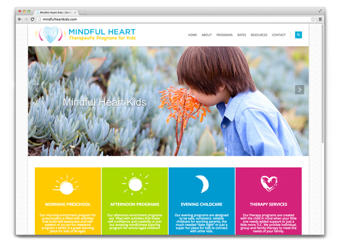 Mindful Heart Kids Logo + Website