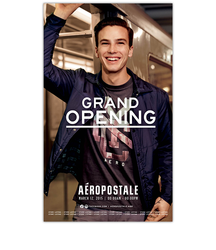Aéropostale International <br>Print + Digital Ads <br>Fall 2016